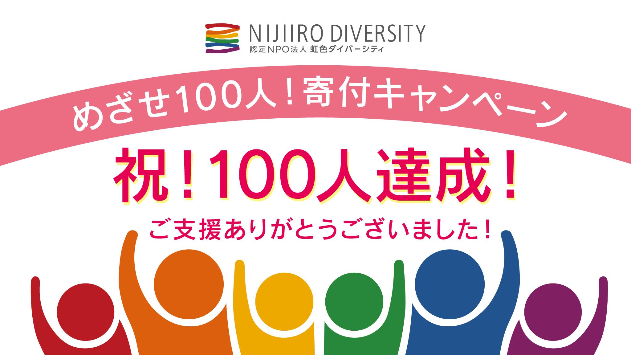 100人達成!ありがとうございました!